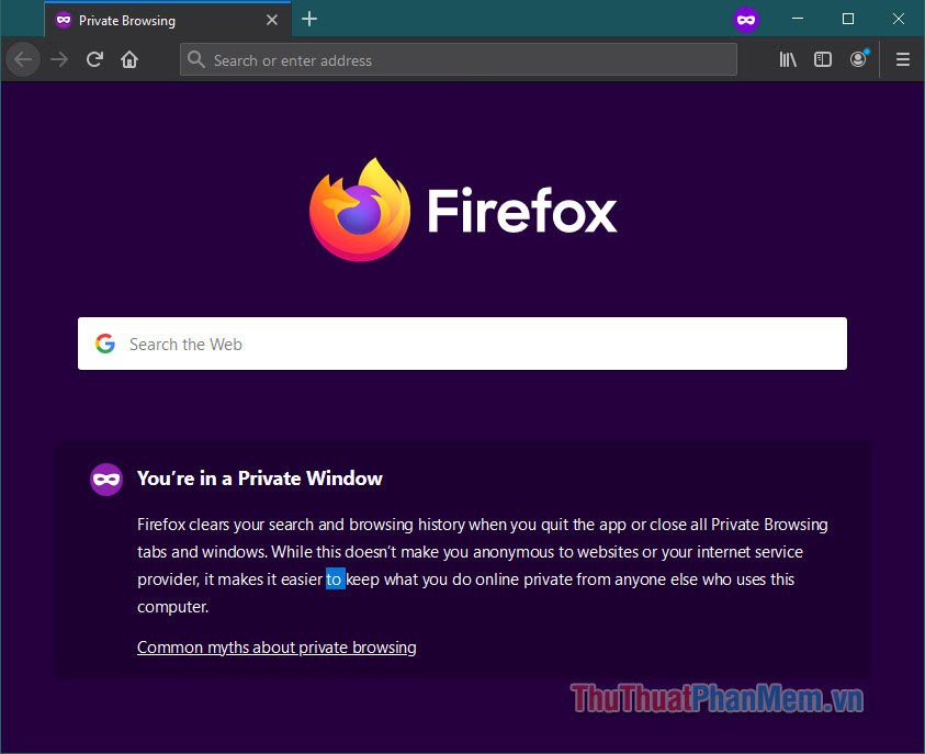 Firefox cảnh báo người dùng rằng duyệt riêng tư không phải là giải pháp