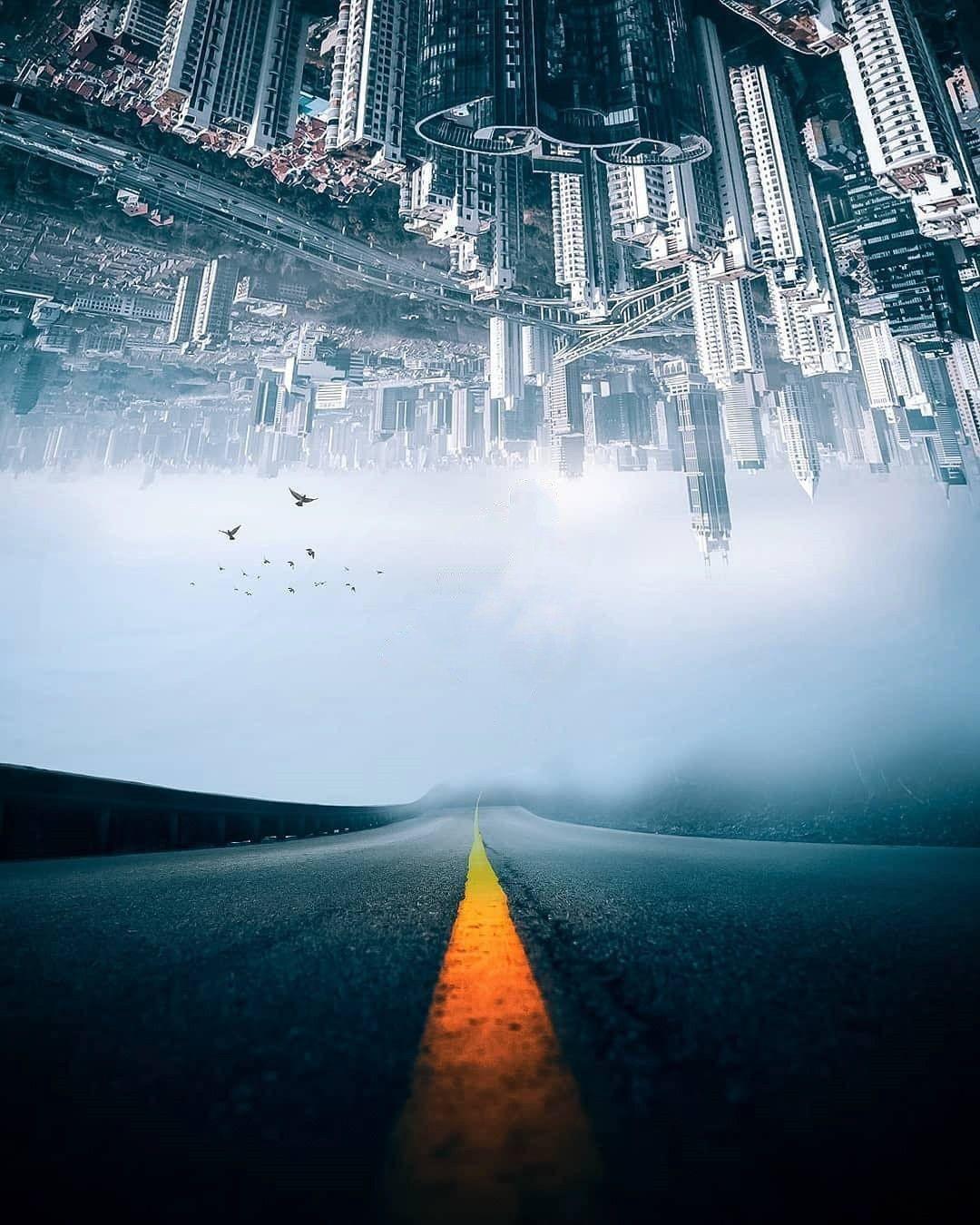 Hình ảnh background thành phố và con đường