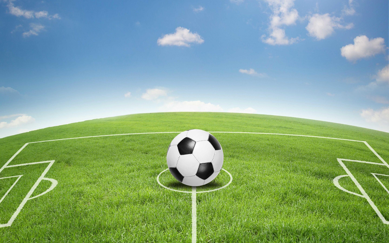 Hình ảnh background trái bóng trên sân cỏ
