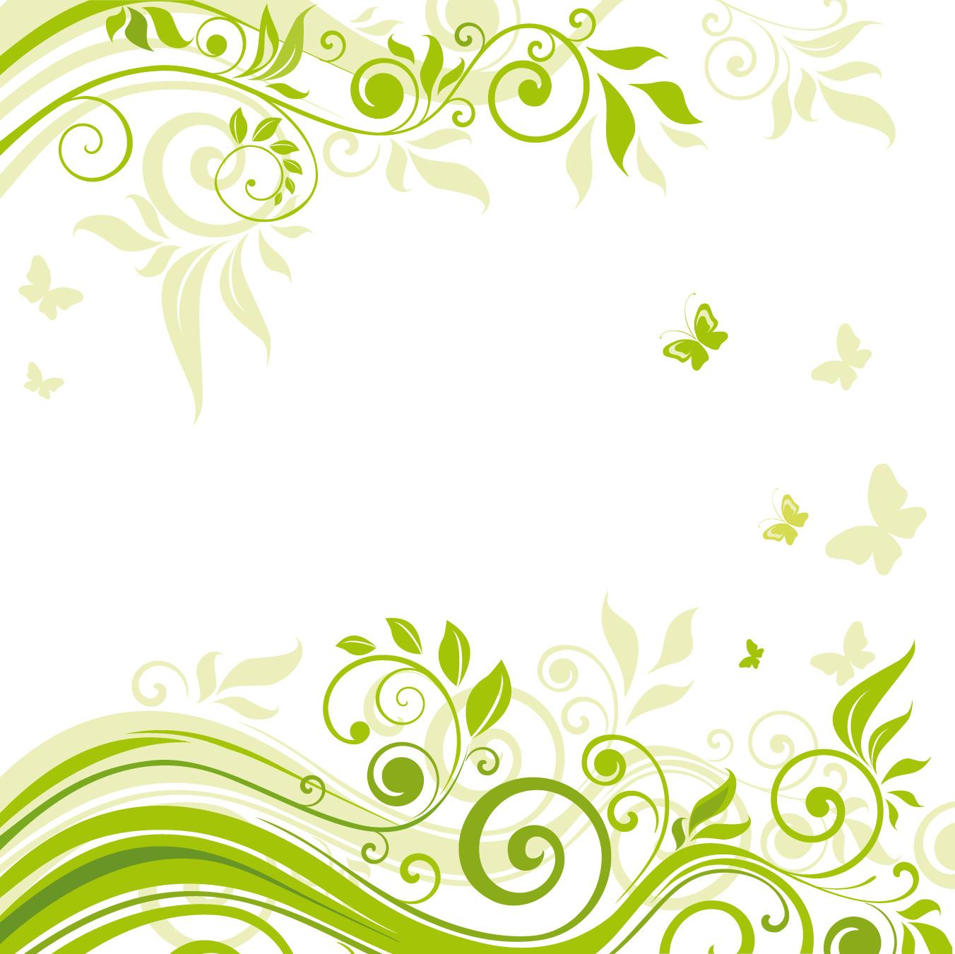 Hoa văn nền cây cỏ