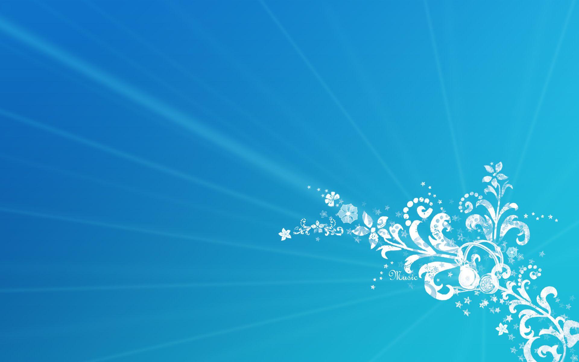 Hoa văn nền xanh