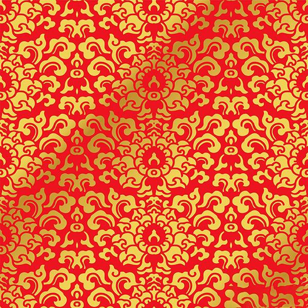 Mẫu hoa văn nền đỏ