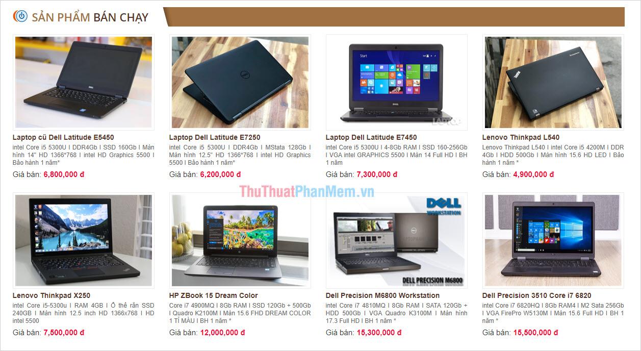 Laptop Hà Nội
