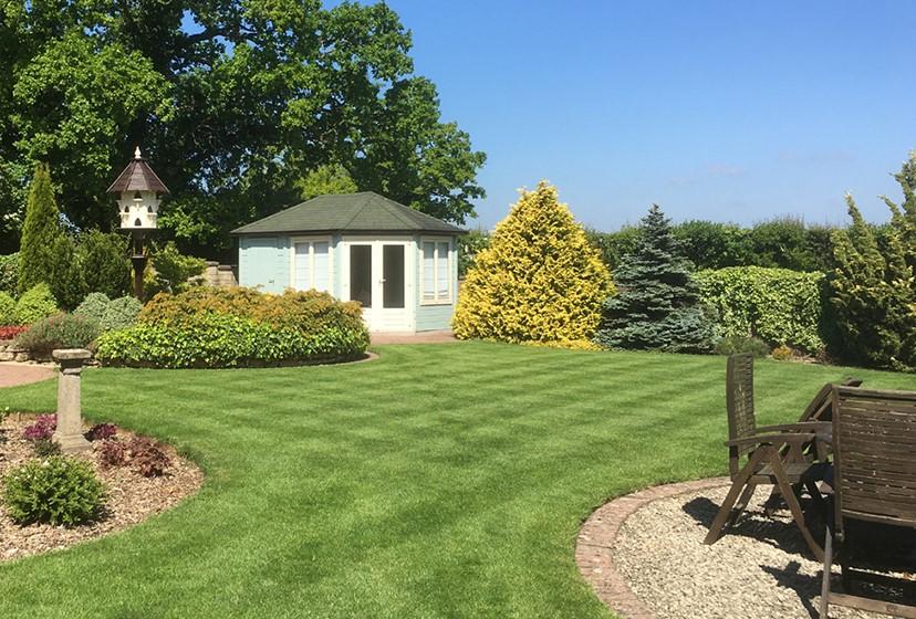 Hình ảnh bãi cỏ trong sân vườn