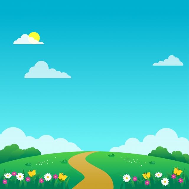 Hình vẽ bãi cỏ xanh