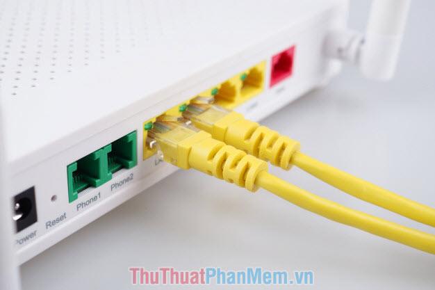 Kiểm tra kết nối mạng có dây