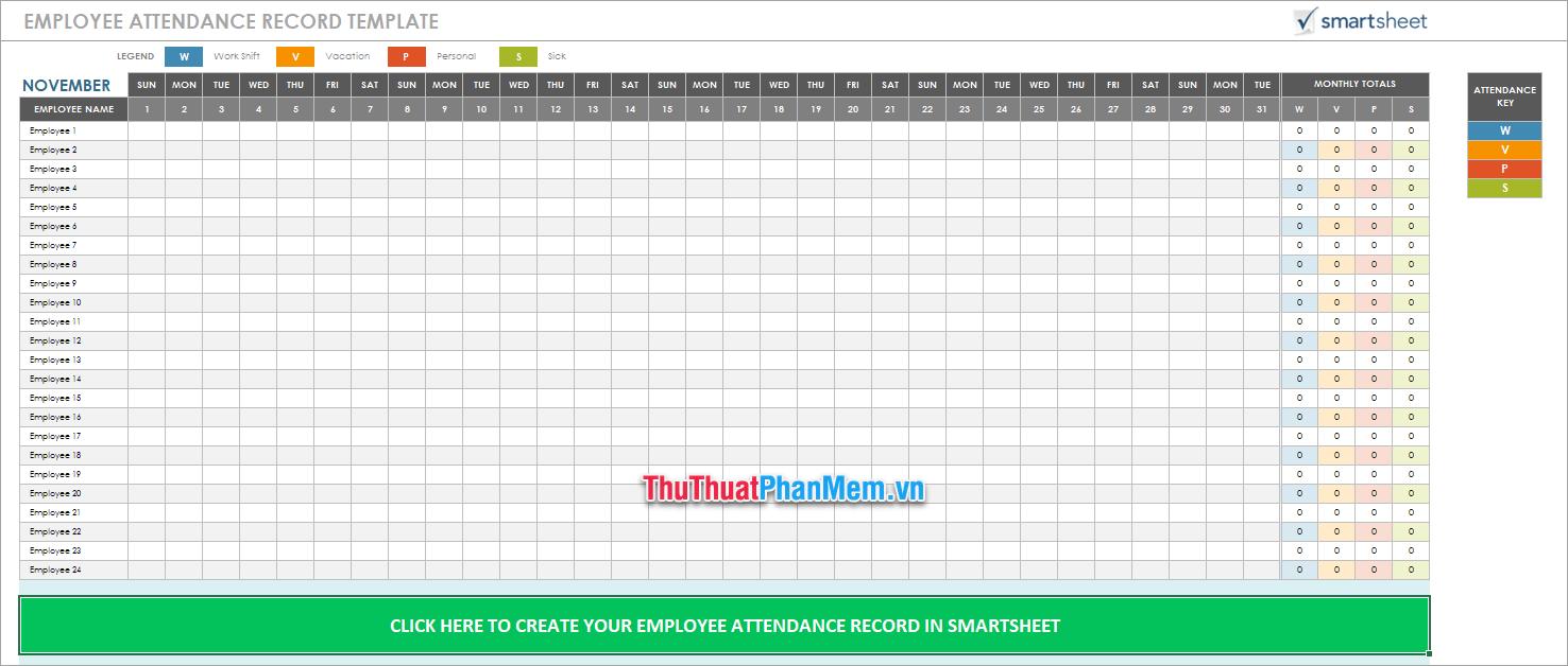 Mẫu tính lương Excel bằng tiếng Anh 2