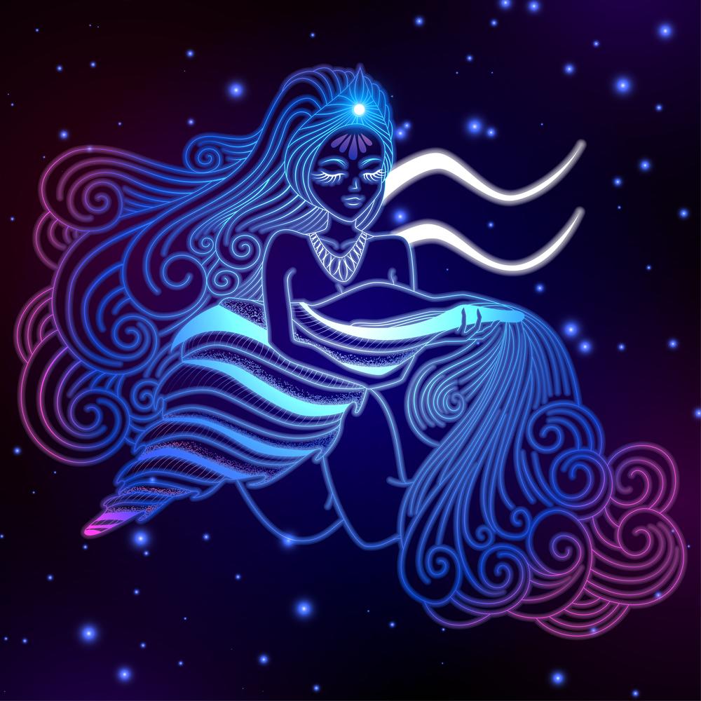 Hình ảnh chòm sao Bảo Bình nước chảy róc rách