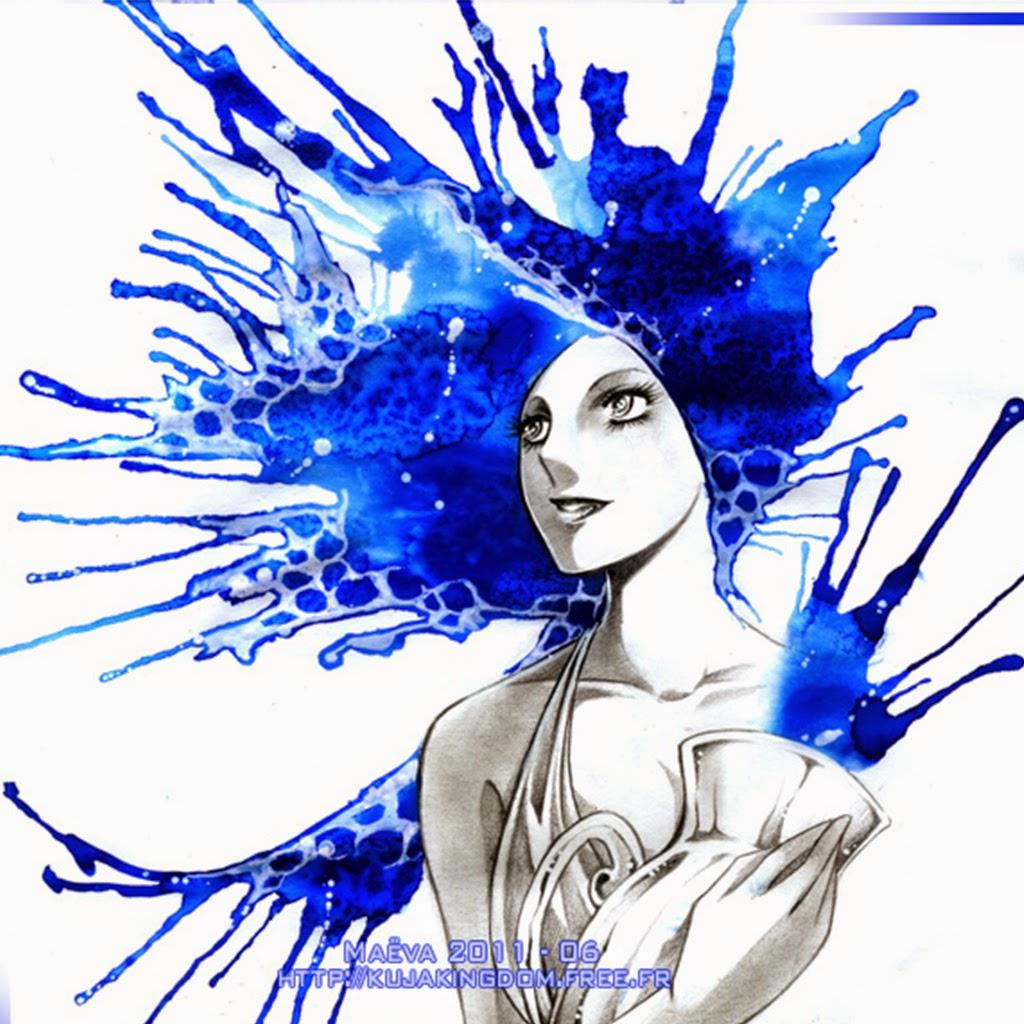 Hình ảnh cô gái Bảo Bình tóc xanh nước