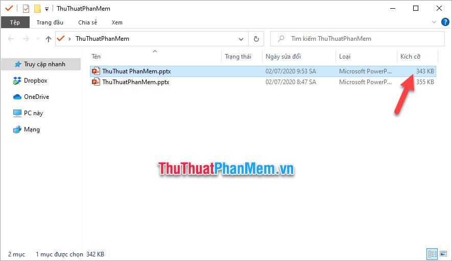 Nếu file của các bạn được chèn nhiều ảnh thì dung lượng file được giảm sẽ rõ rệt hơn