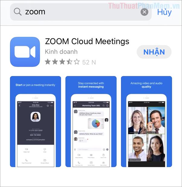Tải phần mềm Zoom Metting về điện thoại