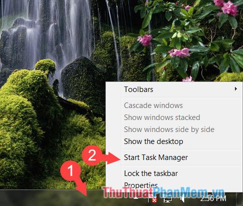 Chọn Start Task Manager