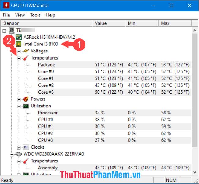 Chọn Temperatures