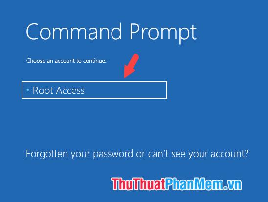Click vào tài khoản và đăng nhập mật khẩu (nếu có)