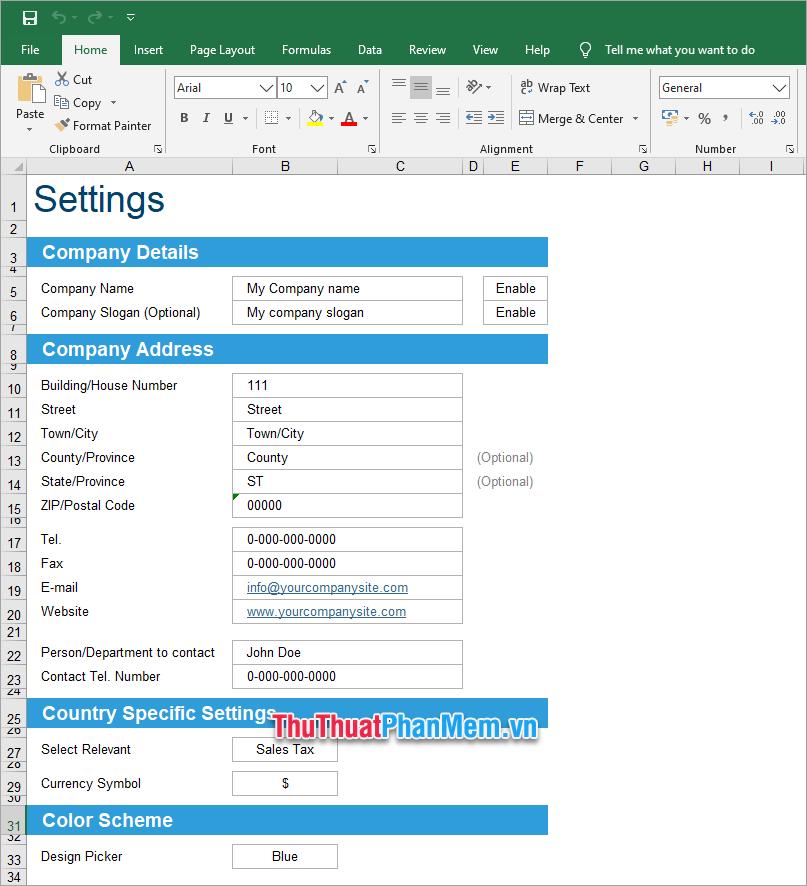 Demo file Excel quản lý hồ sơ 2