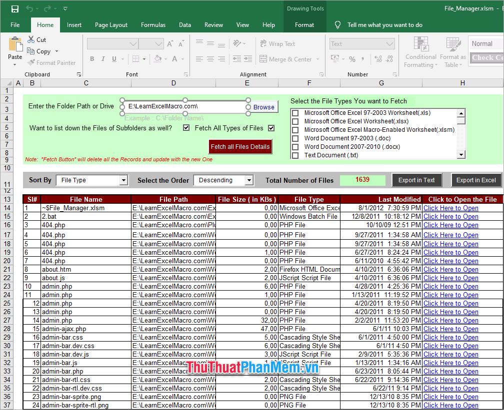 Demo file Excel quản lý hồ sơ 3