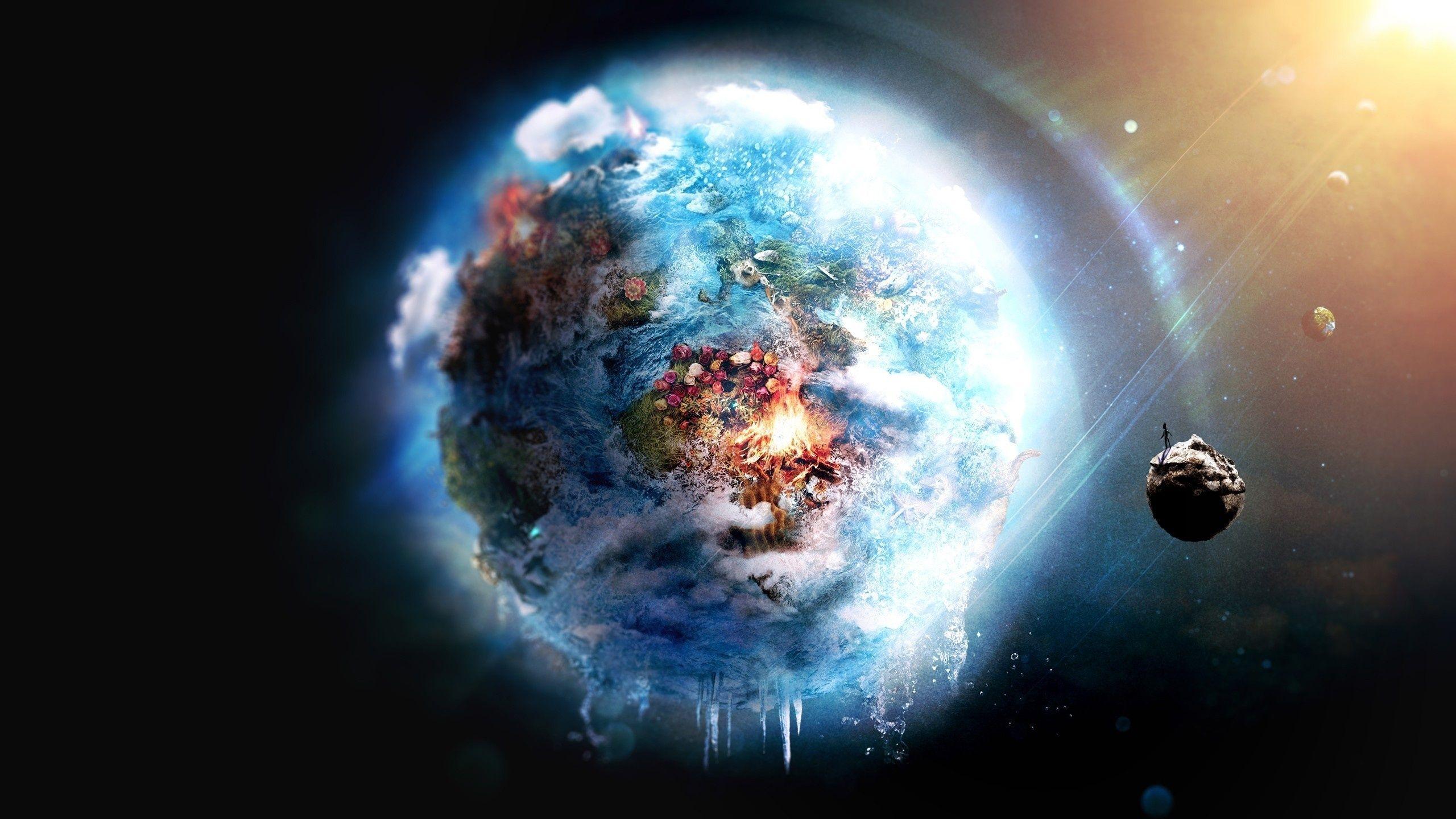 Hình nền trái đất 3D đẹp