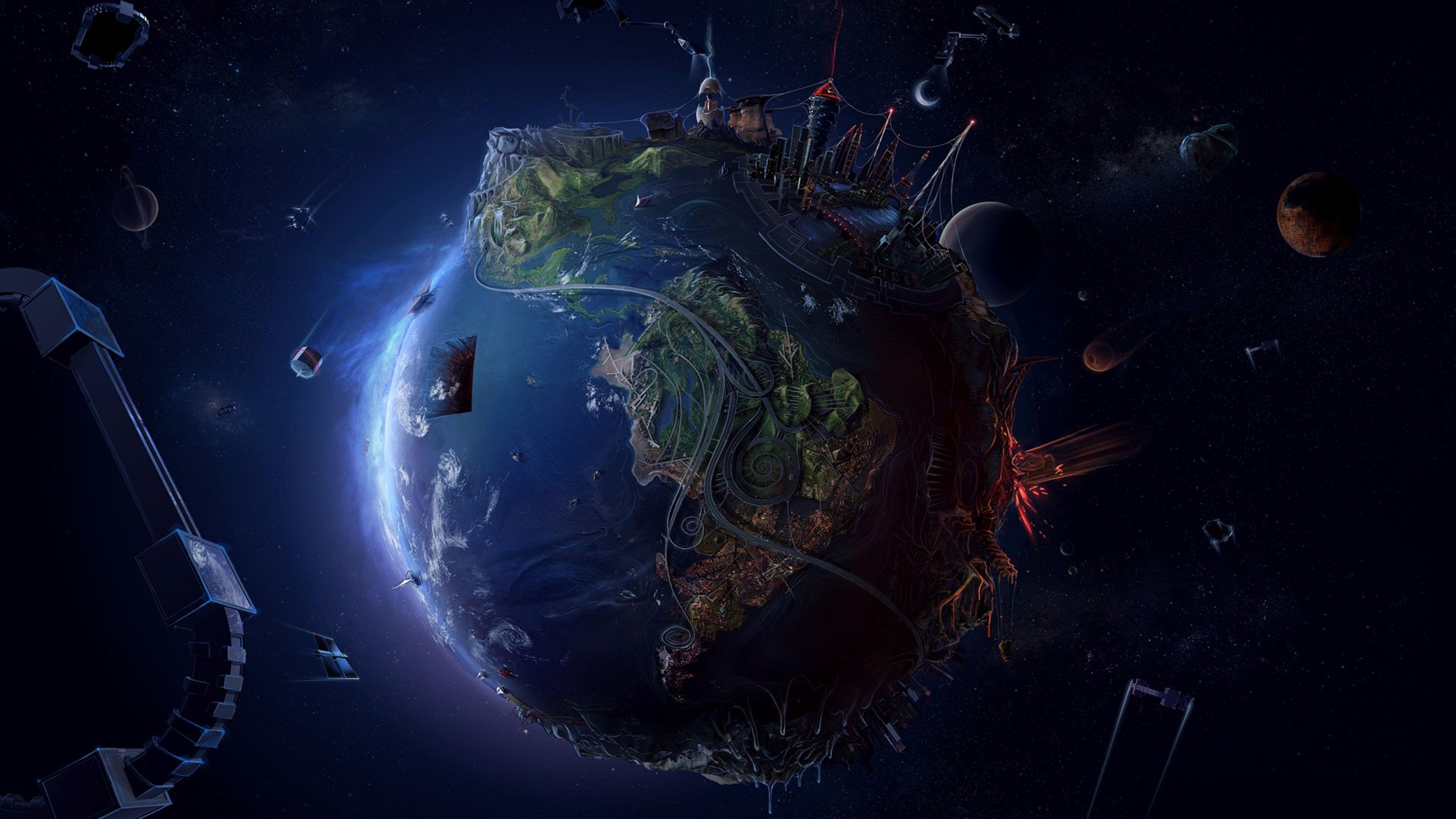 Hình nền trái đất 4K cực đẹp
