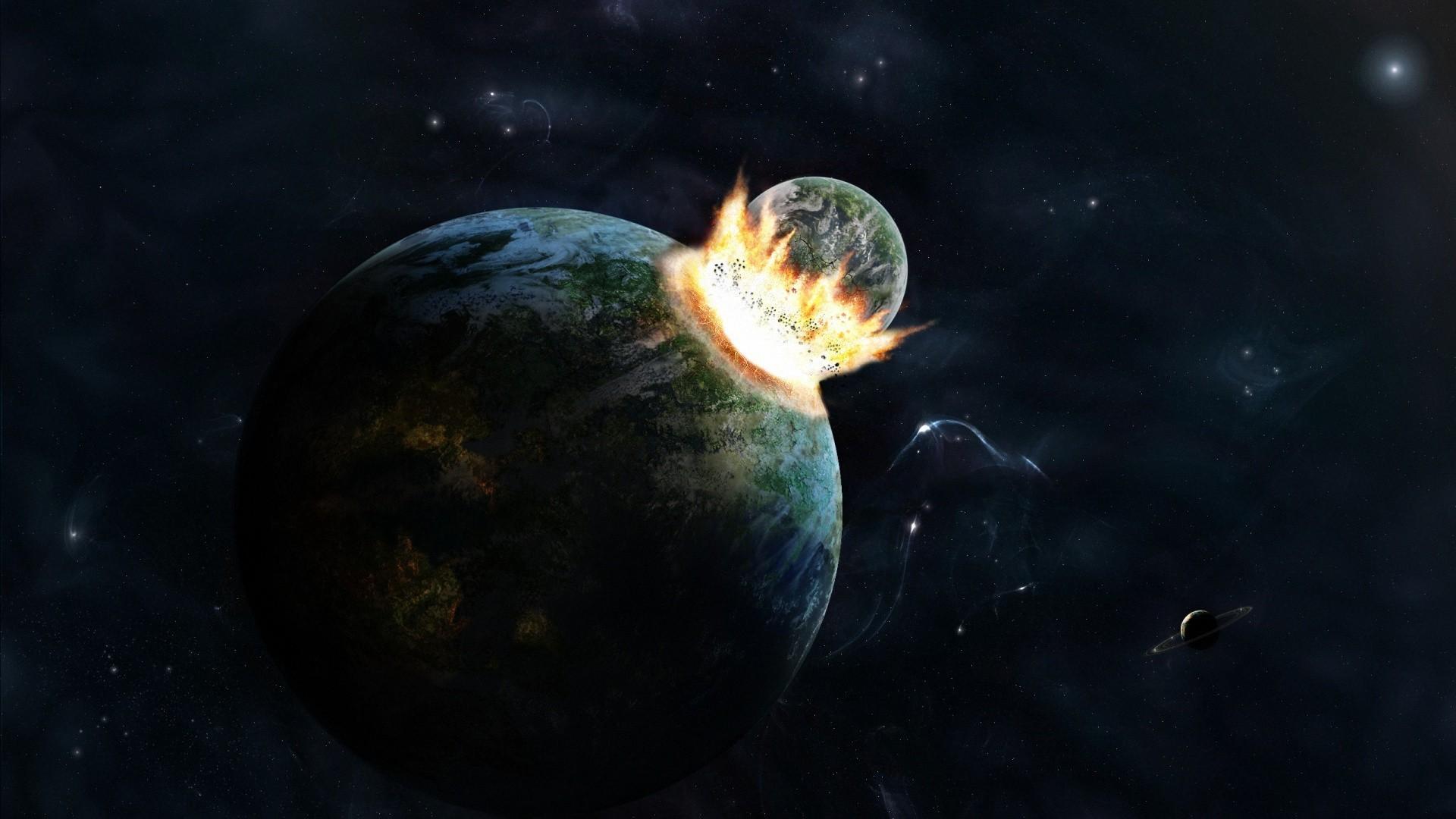 Hình nền trái đất bị phá huỷ