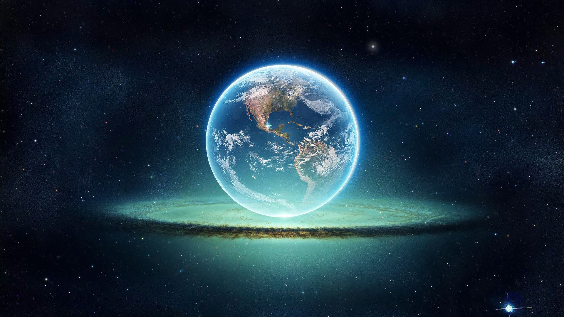 Hình nền trái đất Photoshop