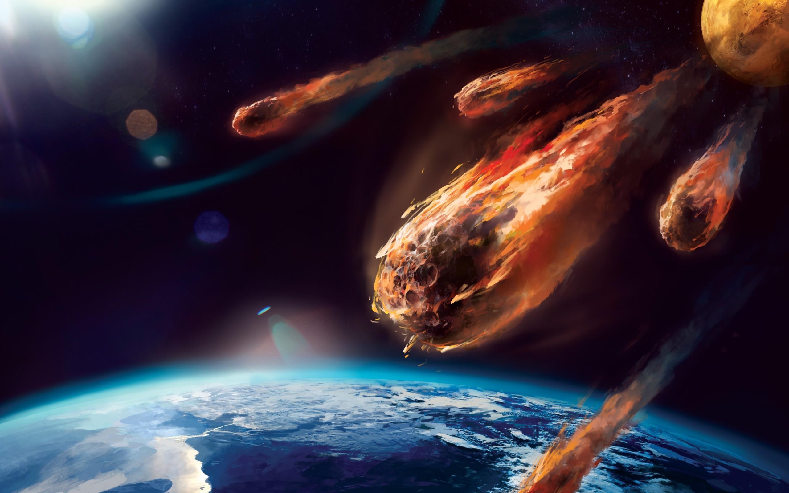 Hình nền trái đất và thiên thạch