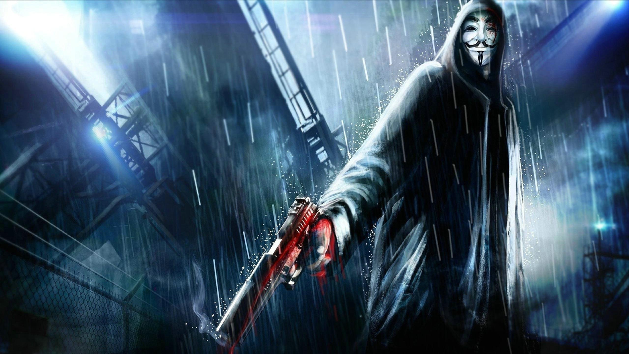 Ảnh Anonymous bắn súng cực ngầu