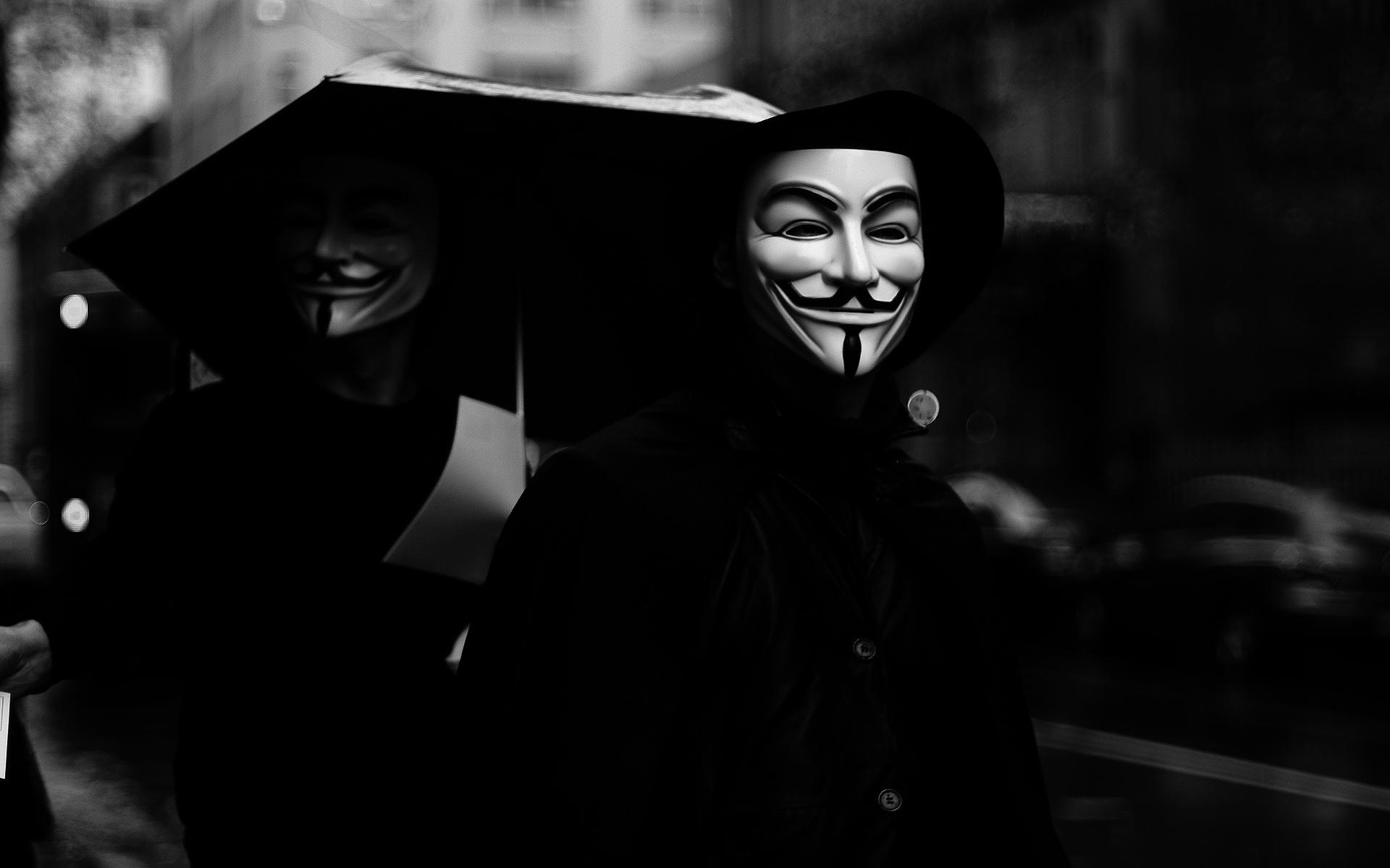 Ảnh Anonymous trắng đen