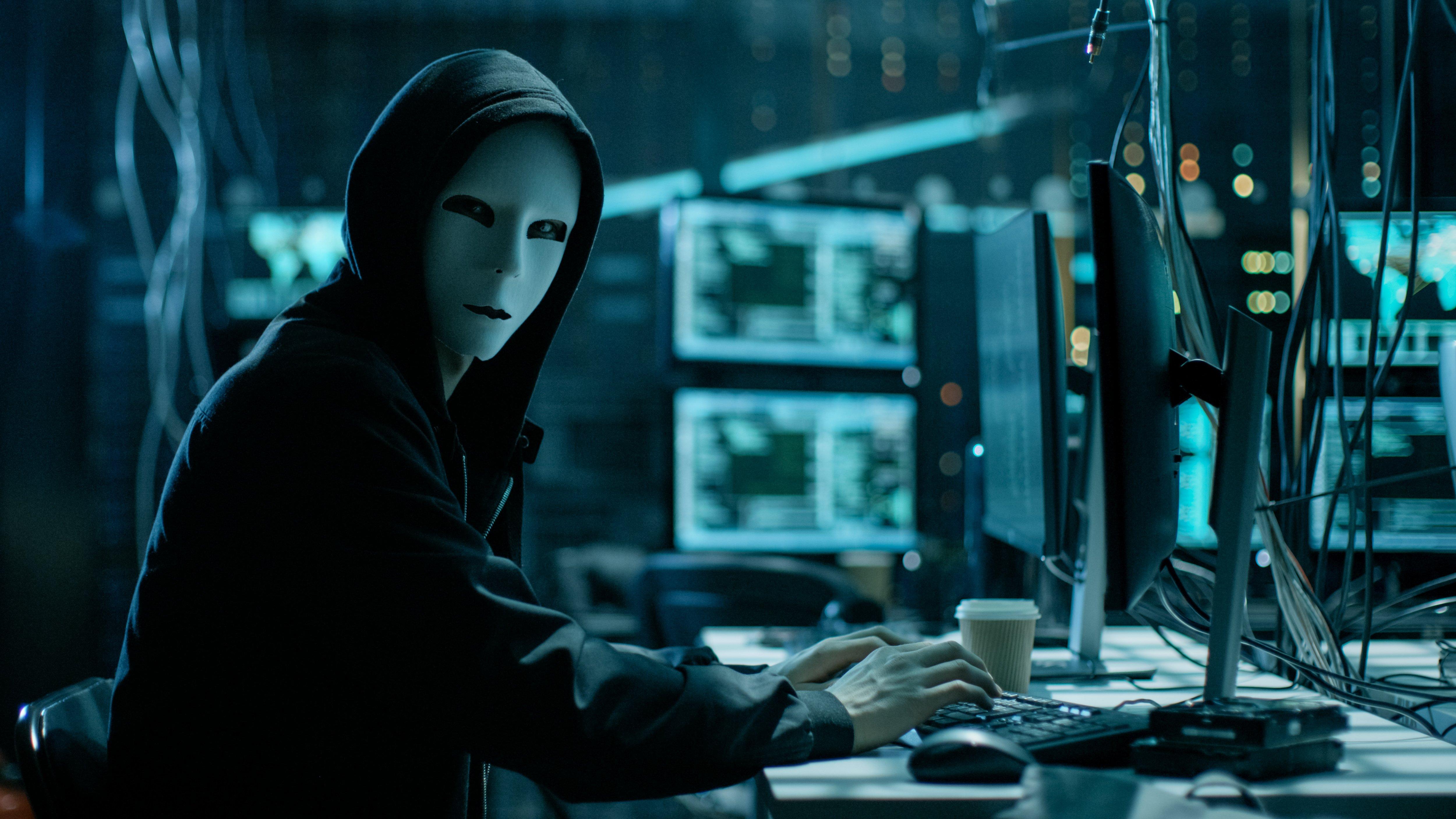 Ảnh Hacker mặt nạ Anonymous đẹp