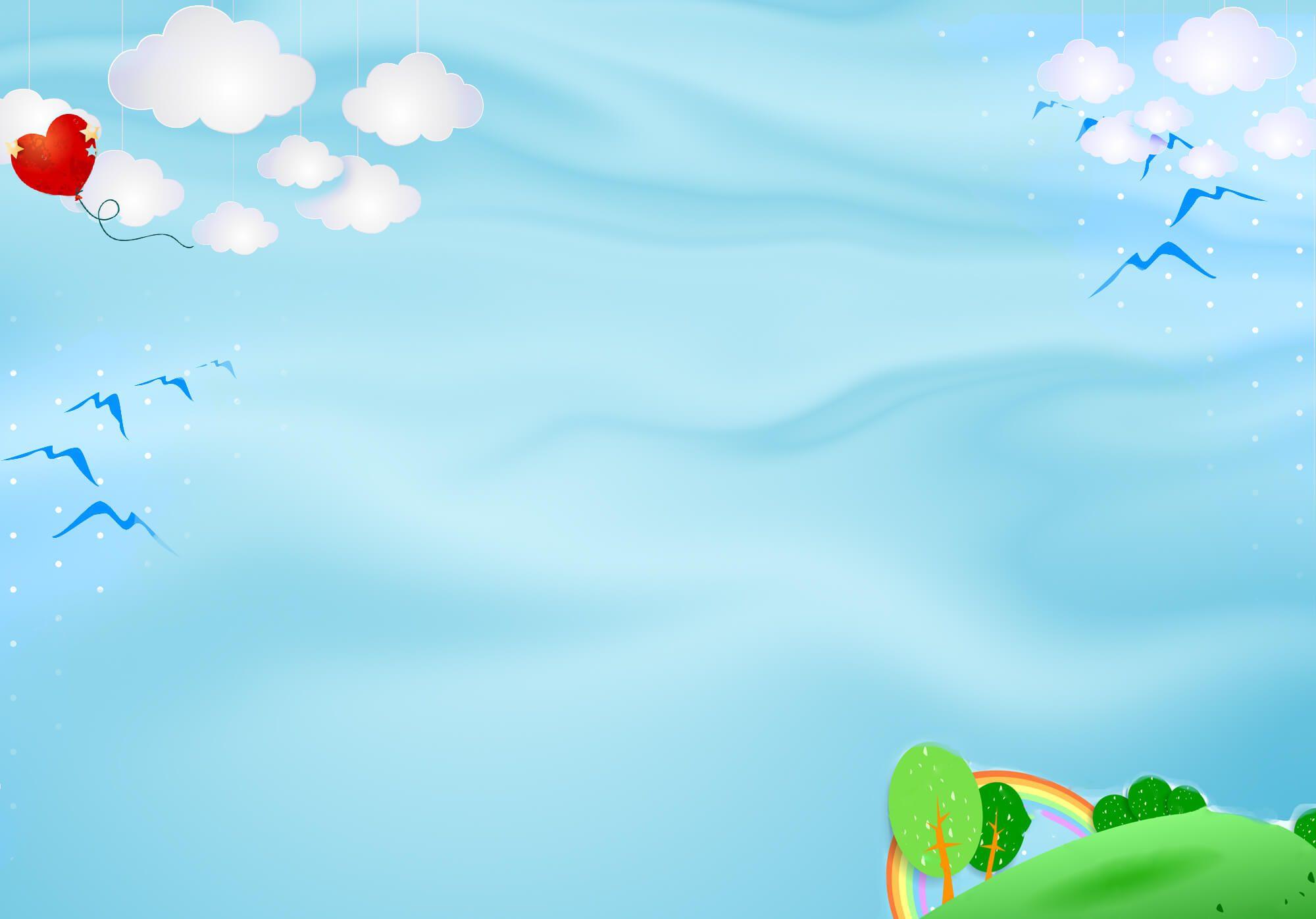 Background mây xanh khai giảng cực đẹp