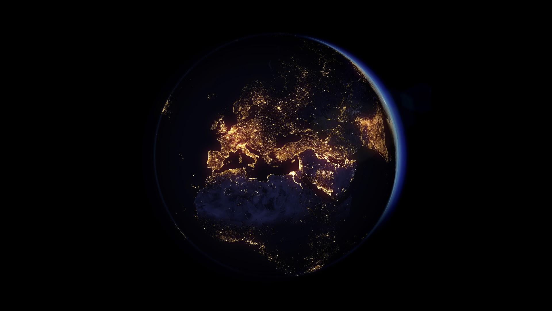 Ảnh Trái Đất buổi đêm chụp từ không gian đẹp nhất