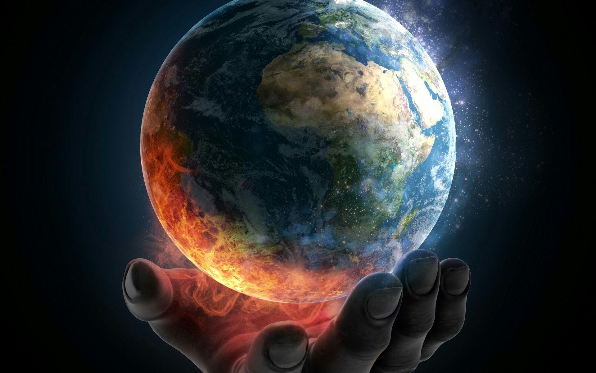 Ảnh Trái Đất nóng lên