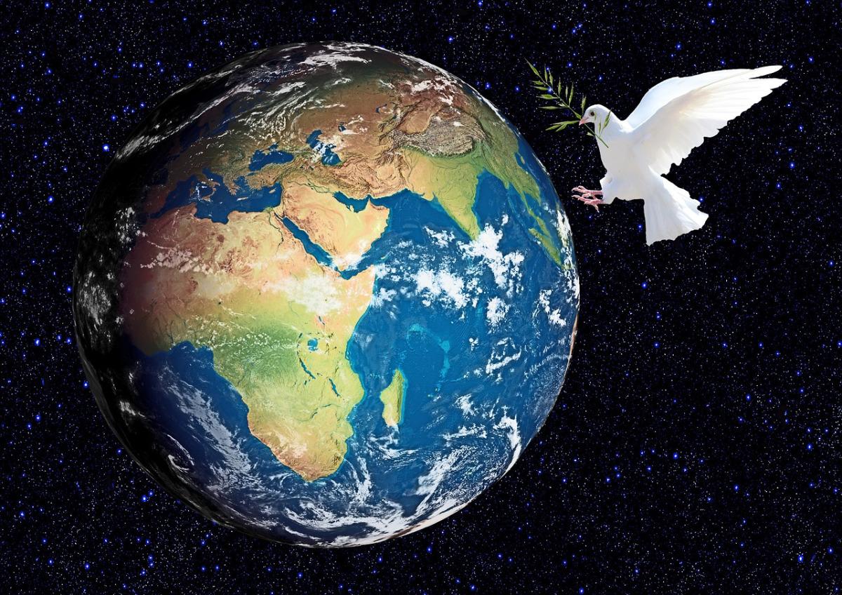 Ảnh Trái Đất và cánh chim bồ câu