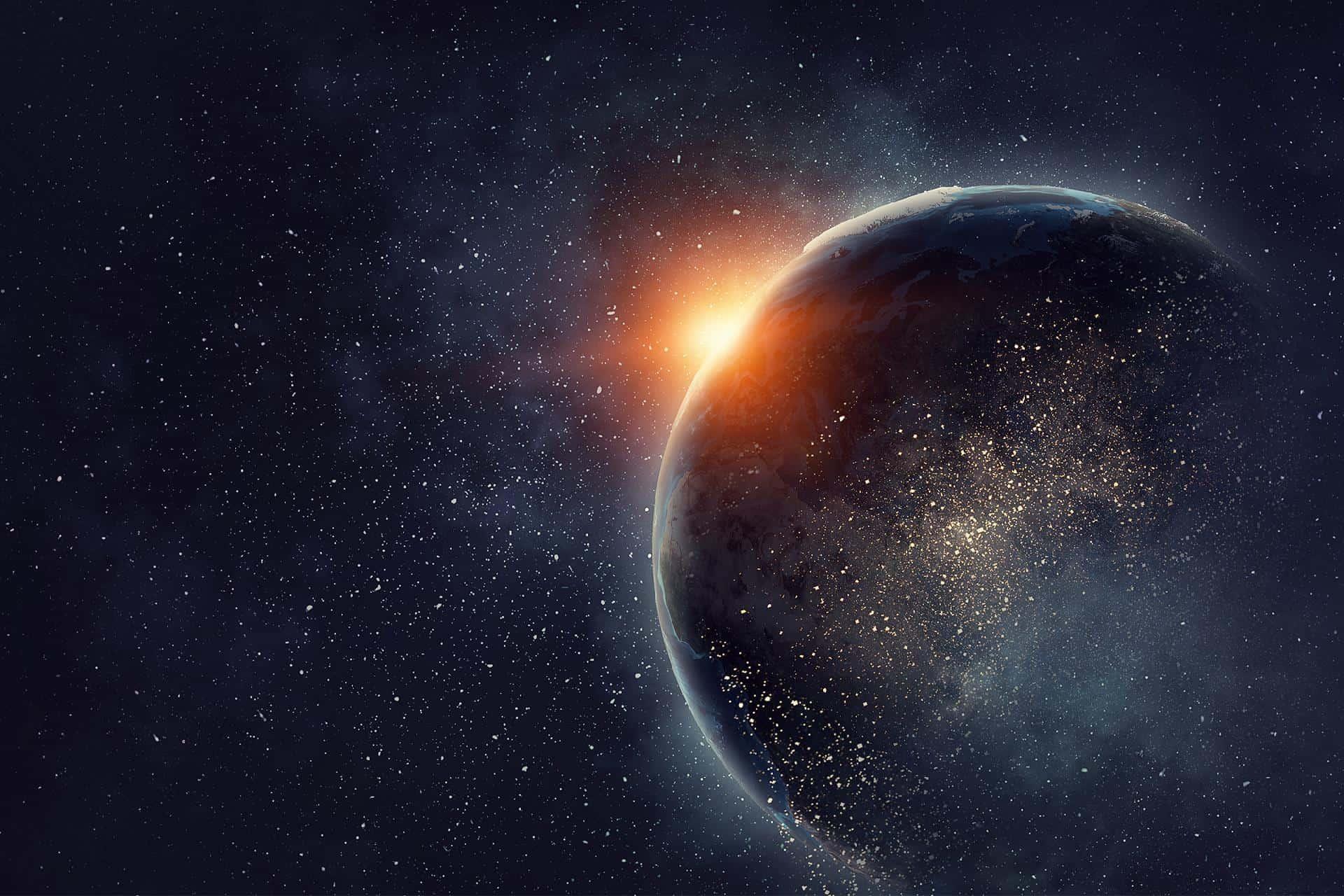 Ảnh Trái Đất và dải thiên hà cực đẹp