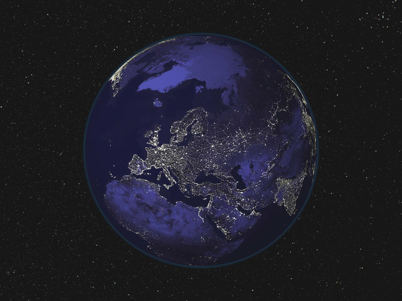 Ảnh Trái Đất về đêm được chụp từ ngoài không gian