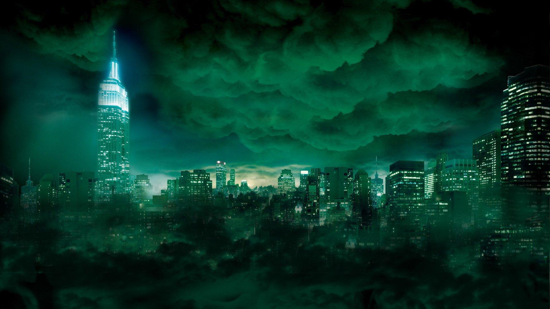Background thành phố màu xanh cực đẹp