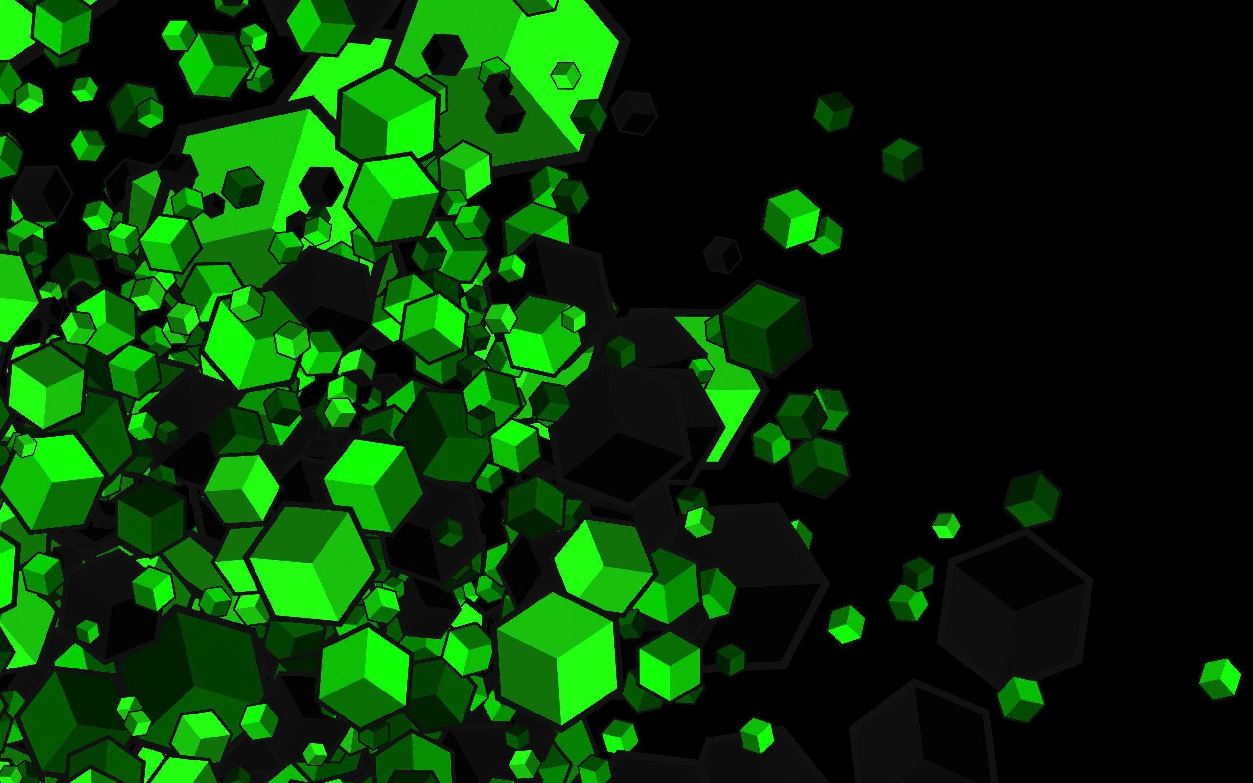 Green Gaming PC Wallpaper