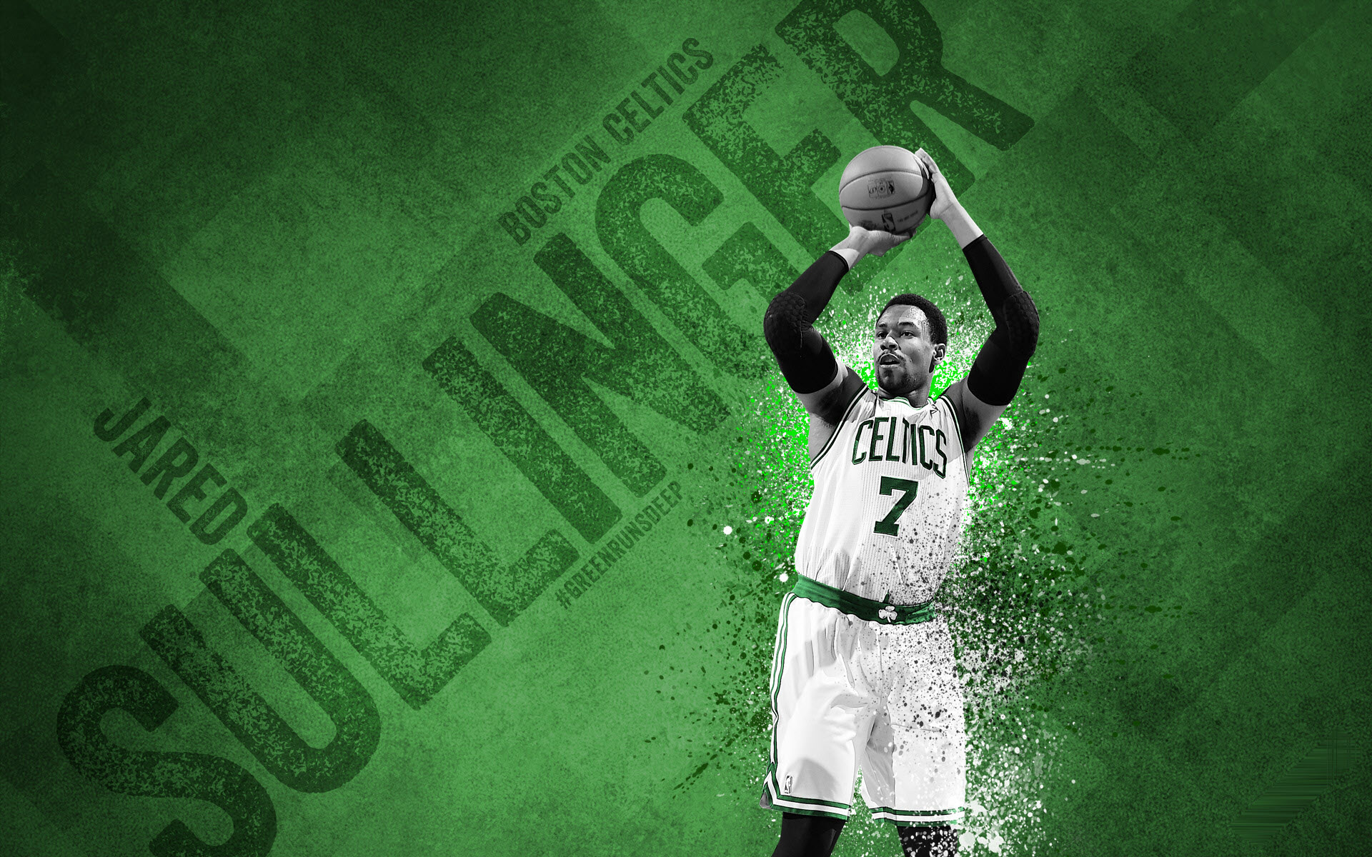 Hình Boston Celtics trên nền xanh đẹp