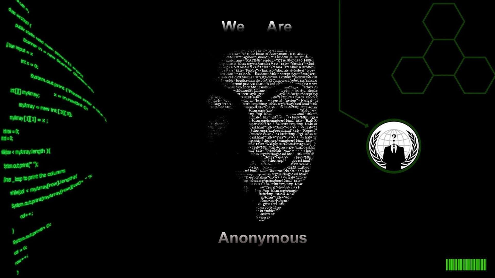 Hình nền hacker Anonymous