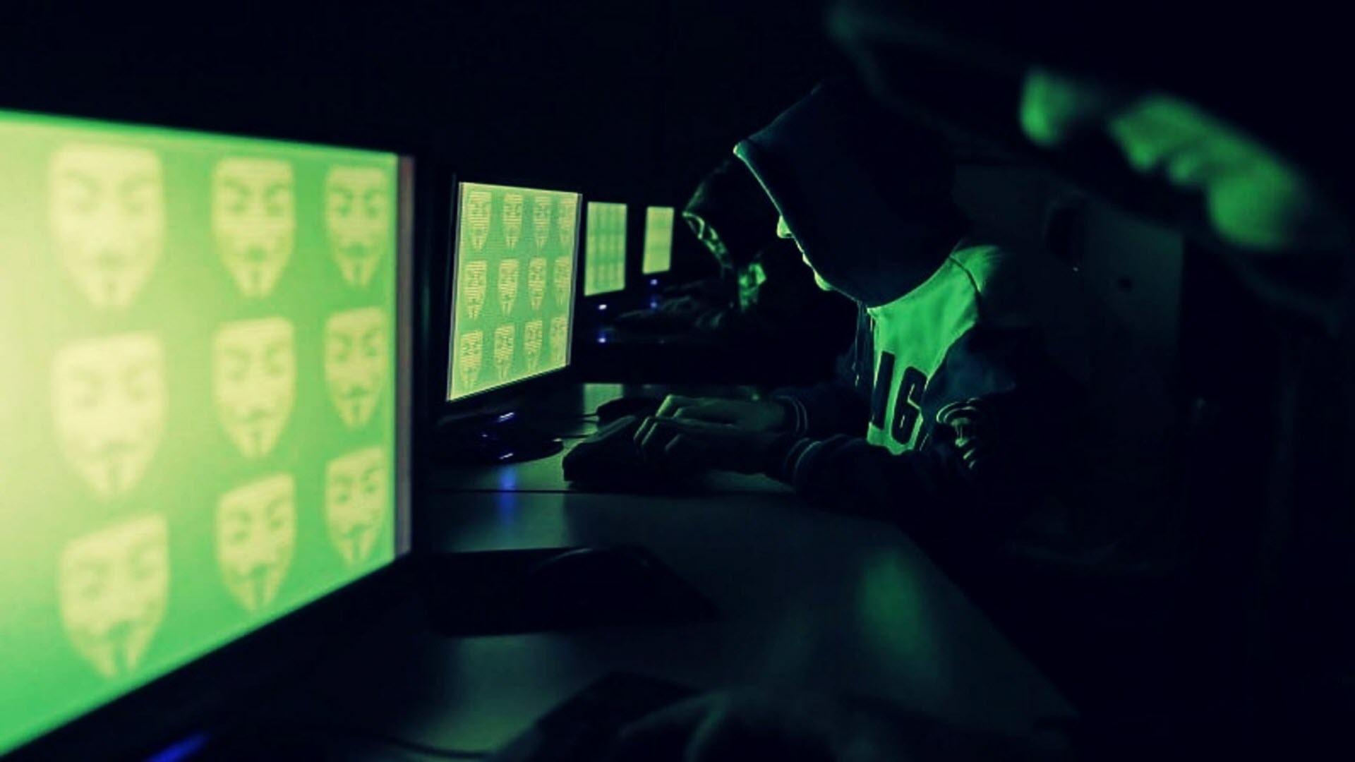 Hình nền hacker làm việc
