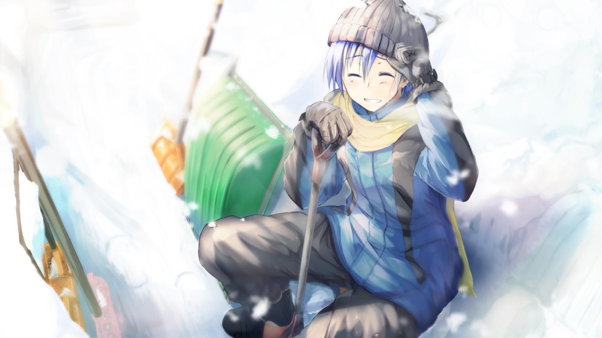 Ảnh anime boy mùa đông đẹp