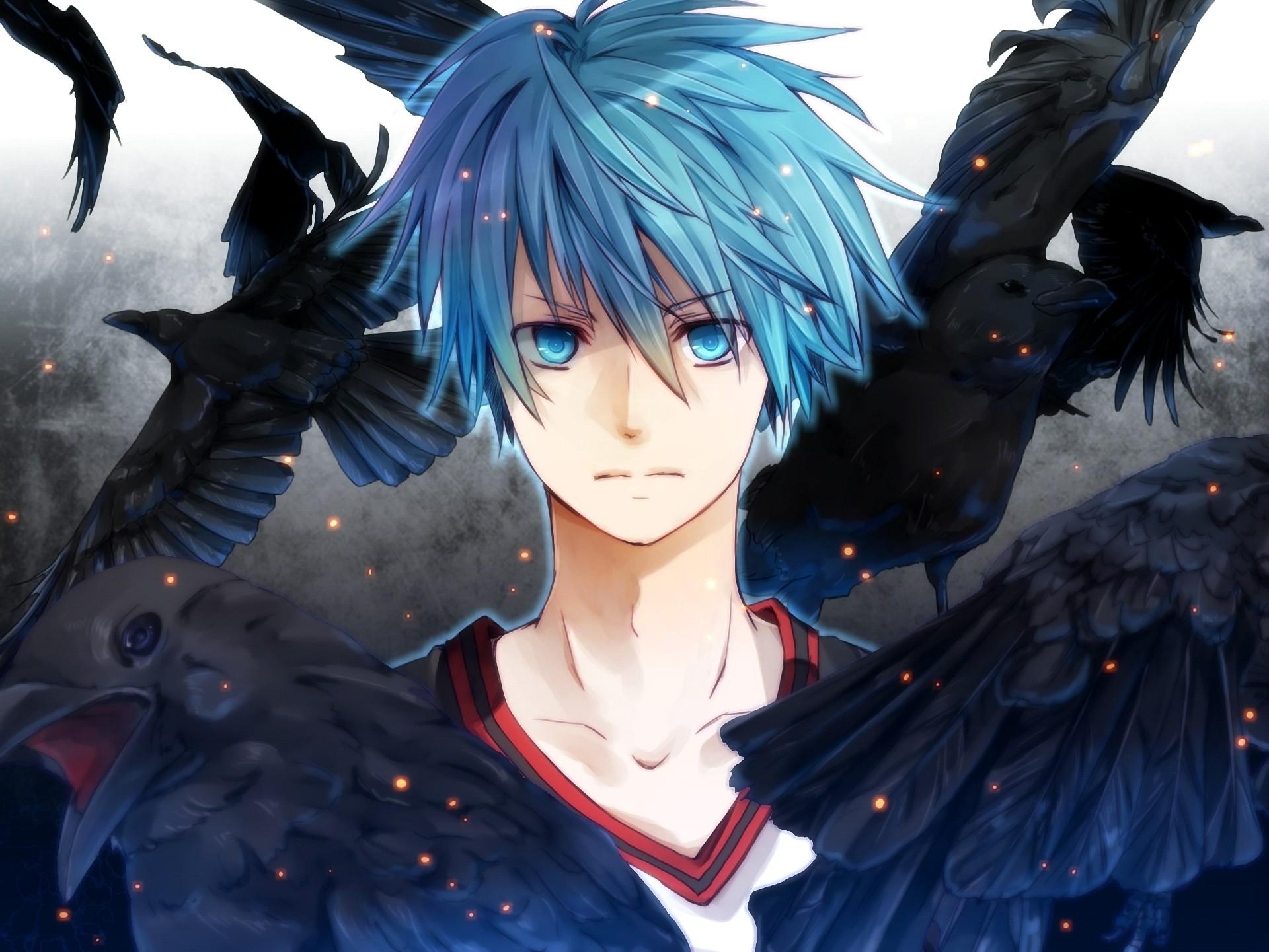 Ảnh anime boy tóc xanh đẹp