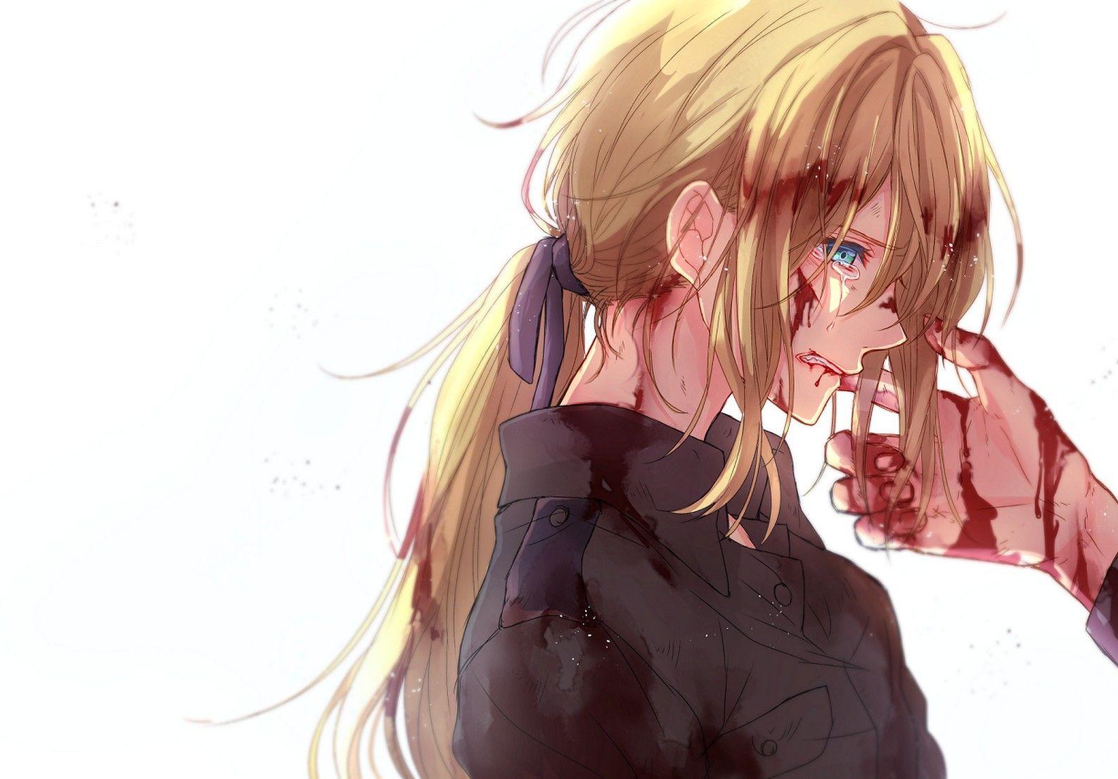 Ảnh Anime đang buồn và khóc
