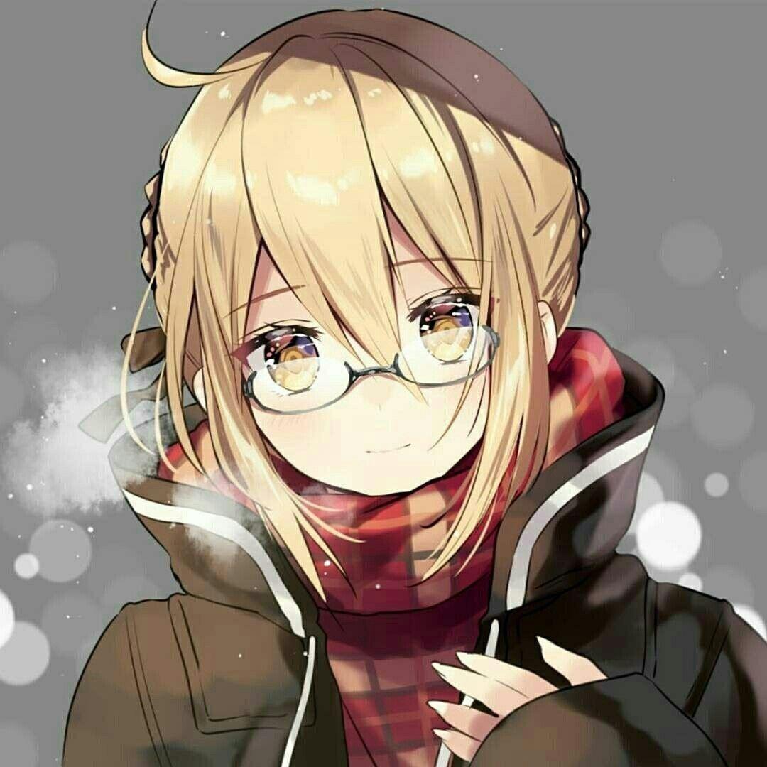 Ảnh anime girl đeo kính
