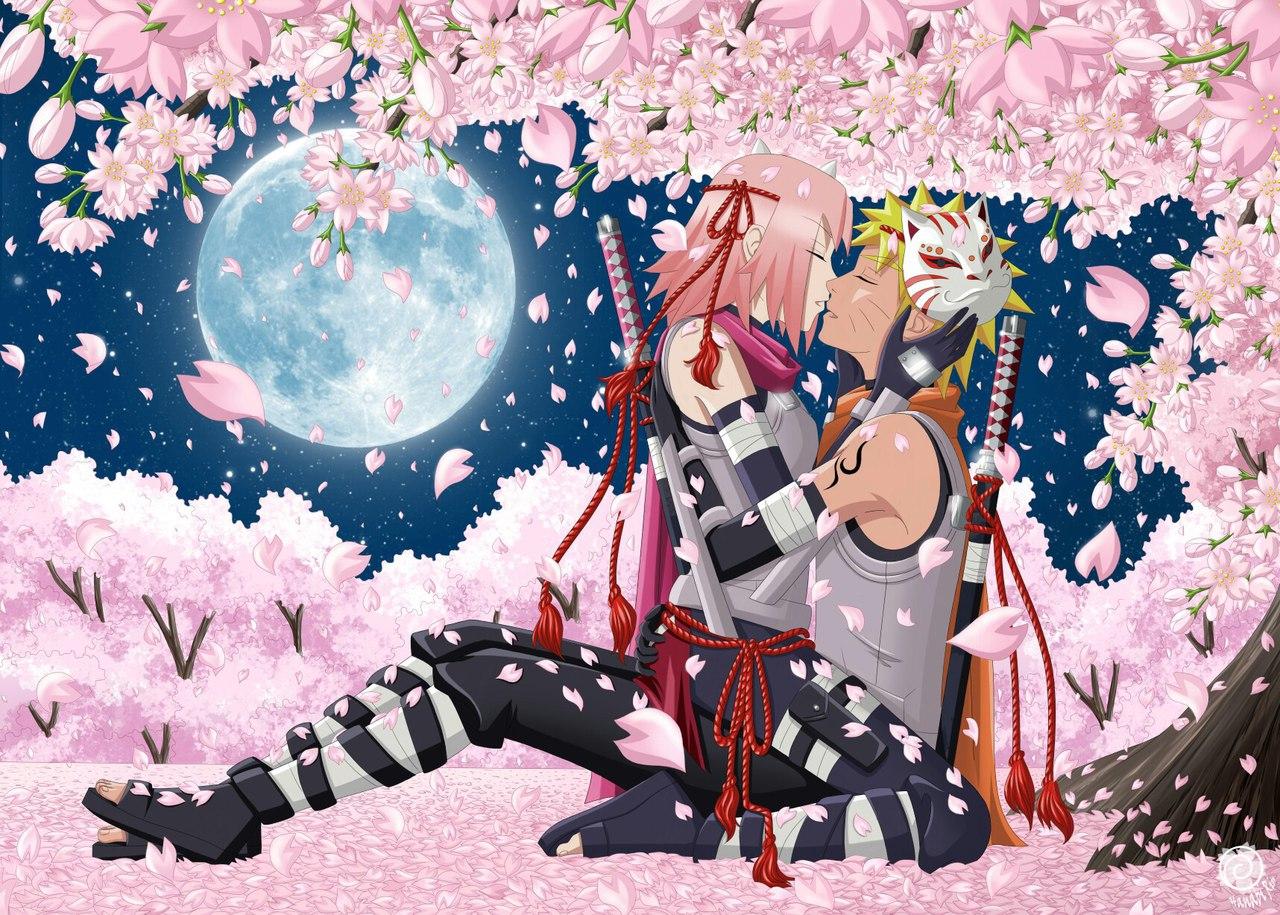 Ảnh anime hoa anh đào lãng mạn