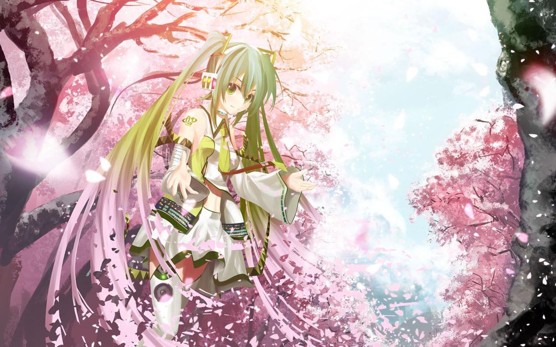 Ảnh anime hoa anh đào (sakura) Nhật Bản