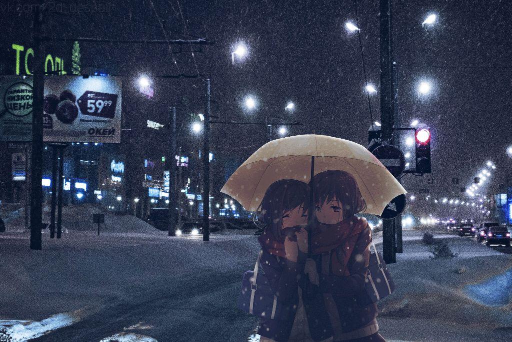 Ảnh anime mùa đông tuyết rơi