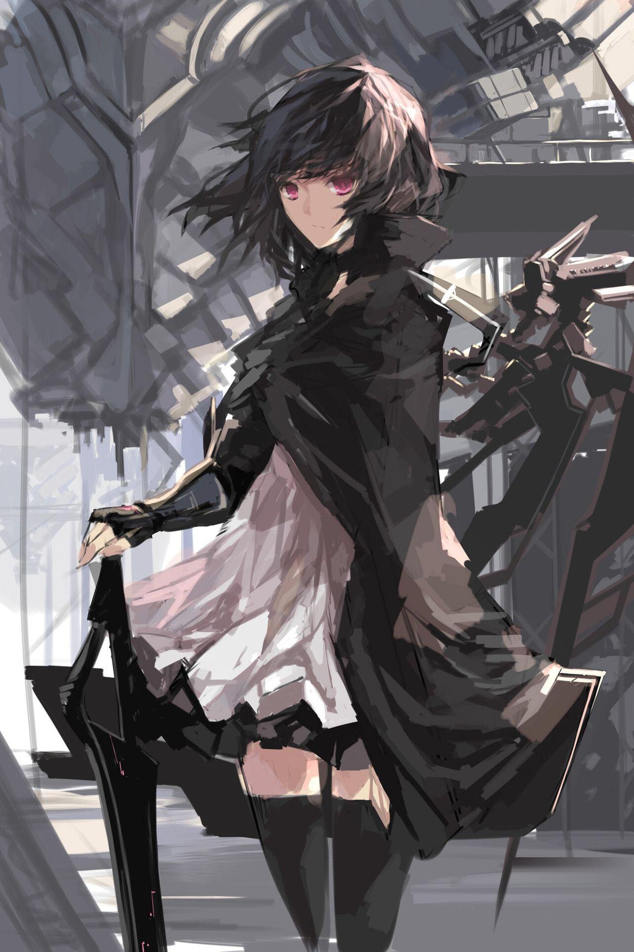 Ảnh anime nữ tóc đen ngắn bao ngầu