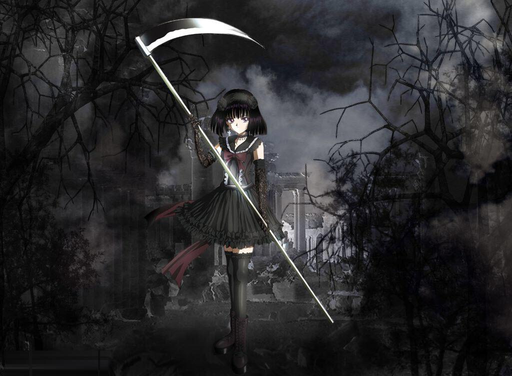 Ảnh anime nữ tóc đen u ám