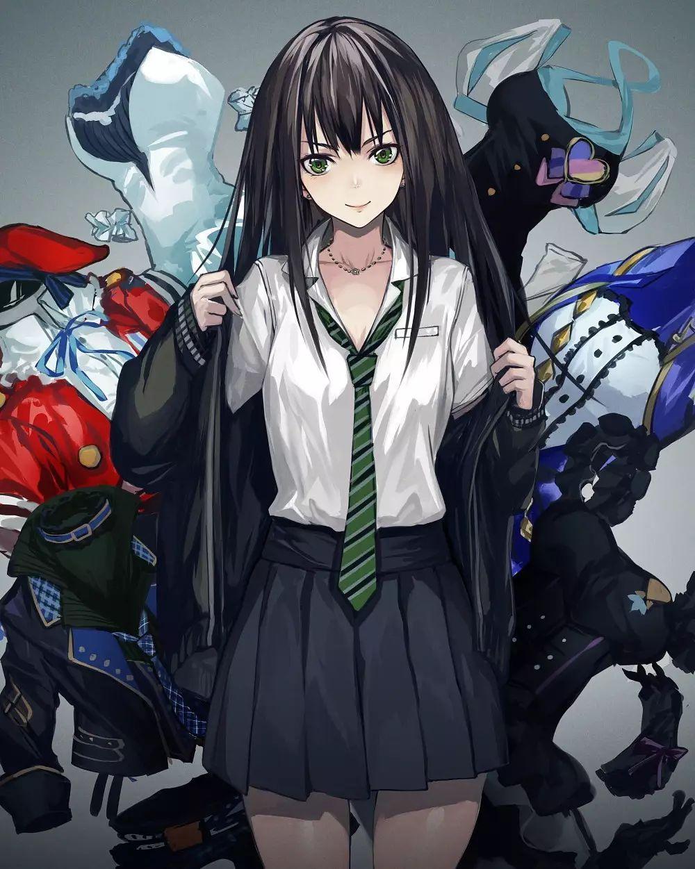 Ảnh anime nữ tóc đen