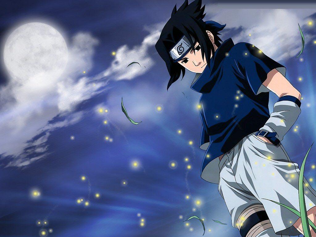 Ảnh anime sasuke (naruto) với mái tóc đen